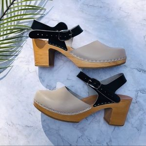 Colorblock Swedish Clogs